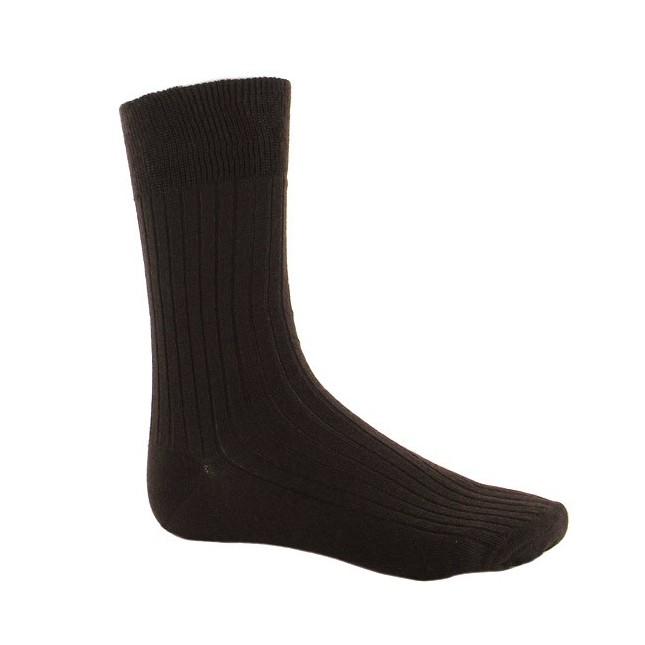 Chaussettes côtelées en laine Merinos