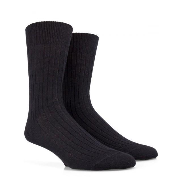 Chaussettes / Bas Chaussettes côtélées en laine Merinos-Lot de 3 paires