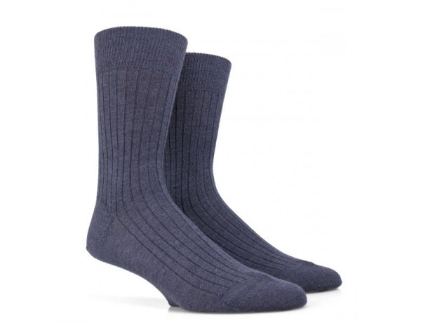 Chaussettes côtélées en laine Merinos-Lot de 3 paires