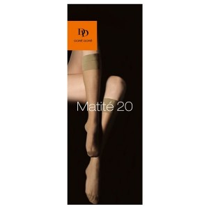 chaussettes bas Mi-Bas Matité 20 D